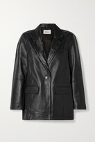 Thumbnail for your product : Deadwood + Net Sustain Brooke Leather Blazer - Black