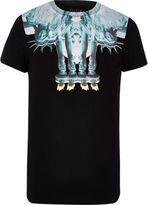 River Island MensBlack Systvm 'Liberty' print T-shirt