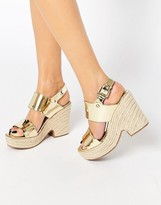 Asos TELL ALL Espadrille Wedge Sandals