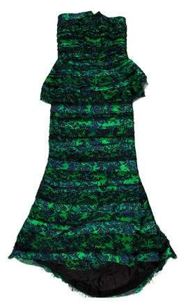 Alice + Olivia Strapless Silk Evening Dress