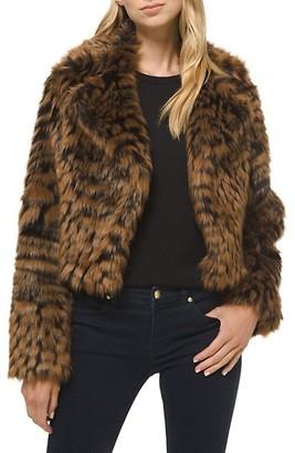 MICHAEL Michael Kors Animal-Print Furry Jacket