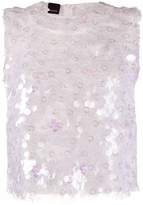 Pinko paillette-embellished tank top