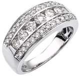 Ax Jewelry Diamond Band In 14k White Gold (1.00 Carats, I-j I1).