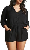 HaoDuoYi Womens Casual OL Plus Size Romper Short Jumpsuit(US22,)