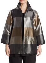 Caroline Rose Shimmering Shades Striped Jacket