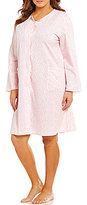 Miss Elaine Plus Paisley French Terry Grip-Front Robe