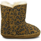 Sole Society Baby Cassie Leopard sheepskin lined bootie