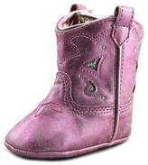 Jessica Simpson Sammi Youth Round Toe Synthetic Pink Western Boot.