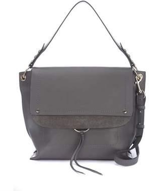 Mint Velvet Sadie Grey Leather Bag