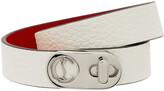 Thumbnail for your product : Christian Louboutin White Elisa Double Bracelet
