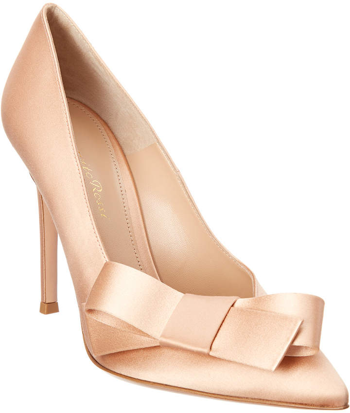 Gianvito Rossi Kyoto 105 Satin Pump