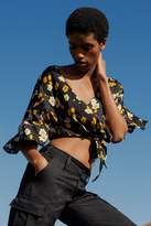 Urban Outfitters Daffodil Button-Through Tie-Front Top