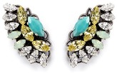 Anton Heunis Swarovski crystal fan earrings