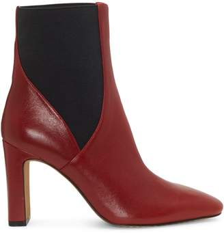Vince Camuto Square Toe Leather Booties