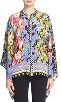 Etro Women's Mixed Floral Print Silk Top