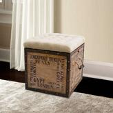 Pulaski Furniture Cushion Flip Top Storage Wood Ottoman in Natural Finish