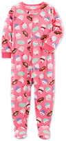 Carter's 1-Pc. Cupcake-Print Footed Fleece Pajamas, Baby Girls (0-24 months)