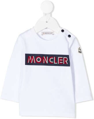 Moncler Enfant Long-Sleeved Branded Sweatshirt