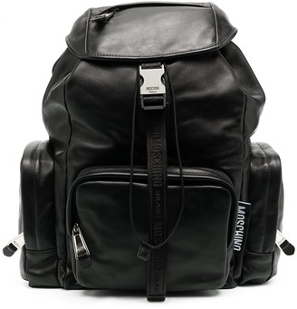 Moschino Multi-Pocket Leather Backpack