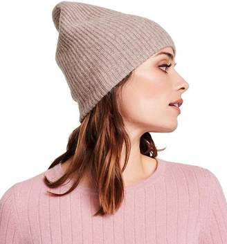 White + Warren Plush Rib Beanie - Chinchilla