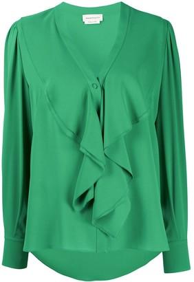 Alexander McQueen Ruffled Silk Blouse