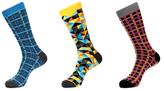 Jared Lang Geometric and Gridded Socks (3 PK)