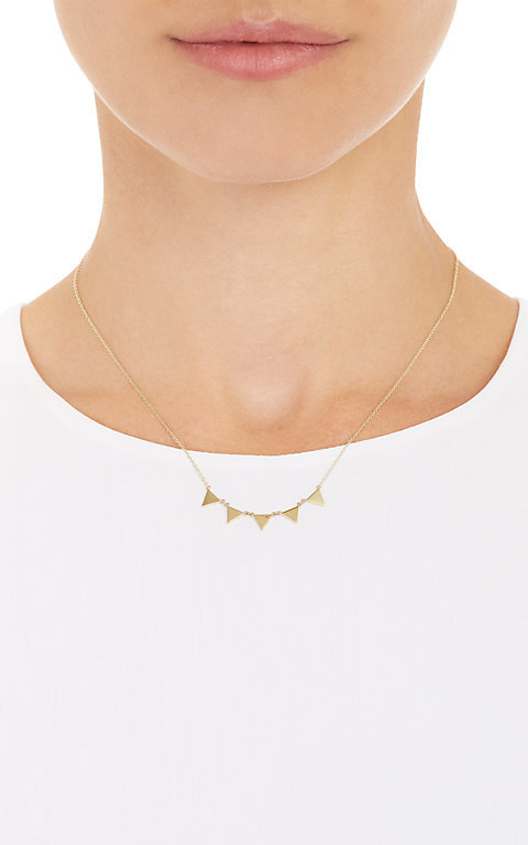 Jennifer Meyer Women's Triangle Banner Necklace
