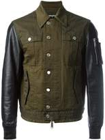 DSQUARED2 shirt effect bomber jacket