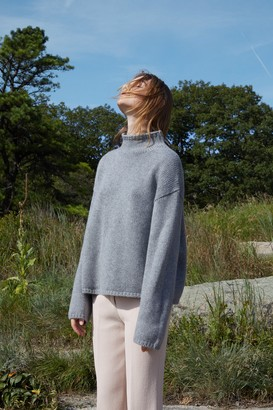 Mansur Gavriel Cashmere High Neck Sweater - Grey