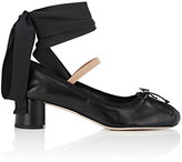 Miu Miu Women's Leather Ankle-Tie Pumps