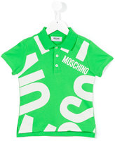 Moschino Kids - logo print polo shirt - kids - Cotton/Spandex/Elastane - 8 yrs