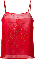 Forte Forte open embroidery camisole top - women - Ramie - 2