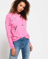 Superdry Splatter Paint Punk Crew Sweatshirt