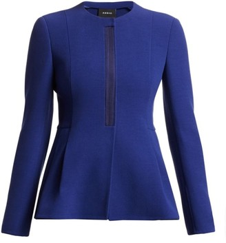 Akris Wool Peplum Zip Jacket