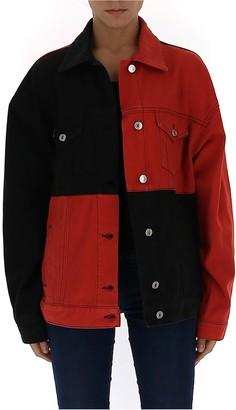 MSGM Checked Denim Jacket
