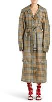 Burberry Women's Vintage Check Plastic Trench Coat
