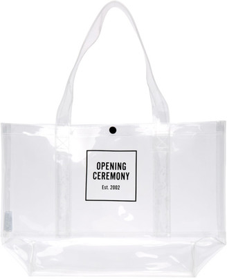 Opening Ceremony Transparent Medium Box Logo Tote