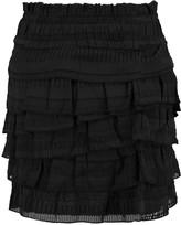 IRO Delia fil coupé silk and cotton-blend mini skirt