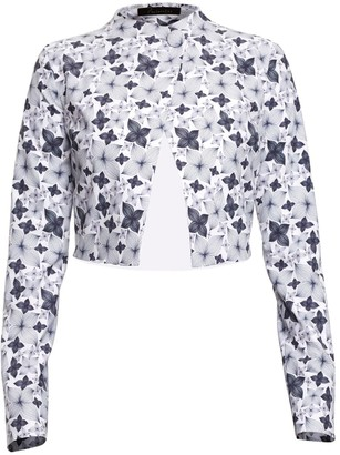 Philosofée By Glaucia Stanganelli Printed Cropped Jacket