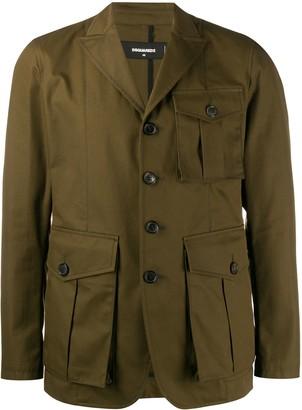 DSQUARED2 button safari jacket