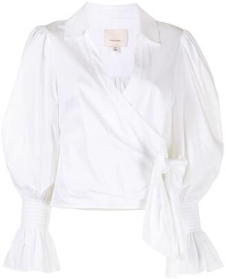 Cinq à Sept wrap-front V-neck blouse