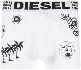 Diesel Illustration Print Boxers