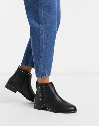 New Look studded ankle boots in black