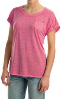 Specially made Mineral-Washed Pocket T-Shirt - Short Sleeve (For Women)