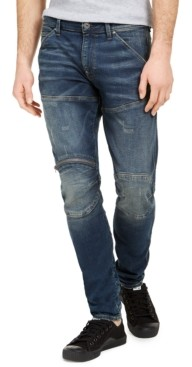 G Star Men's Skinny-Fit Zip-Knee Jeans, Created for Macy's