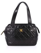 Chanel Pre-owned: Vintage Cc Front Pocket Shoulder Bag Quilted Lambskin Small.