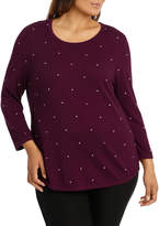 Must Have Contrast Spot Long Sleeve Jumper