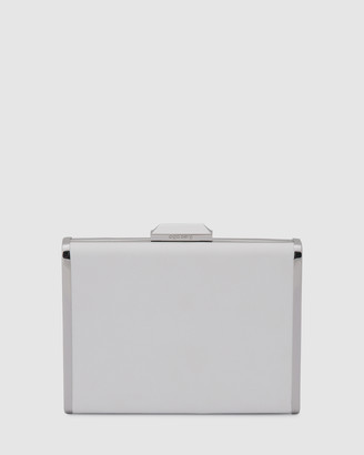 Olga Berg Women's White Clutches - Hazel Saffiano Clutch - Size One Size at The Iconic