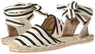 Soludos Classic Sandal (Natural Black) Women's Sandals