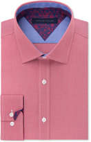 Tommy Hilfiger Men's Slim-Fit Red Check Liberty-Print Dress Shirt